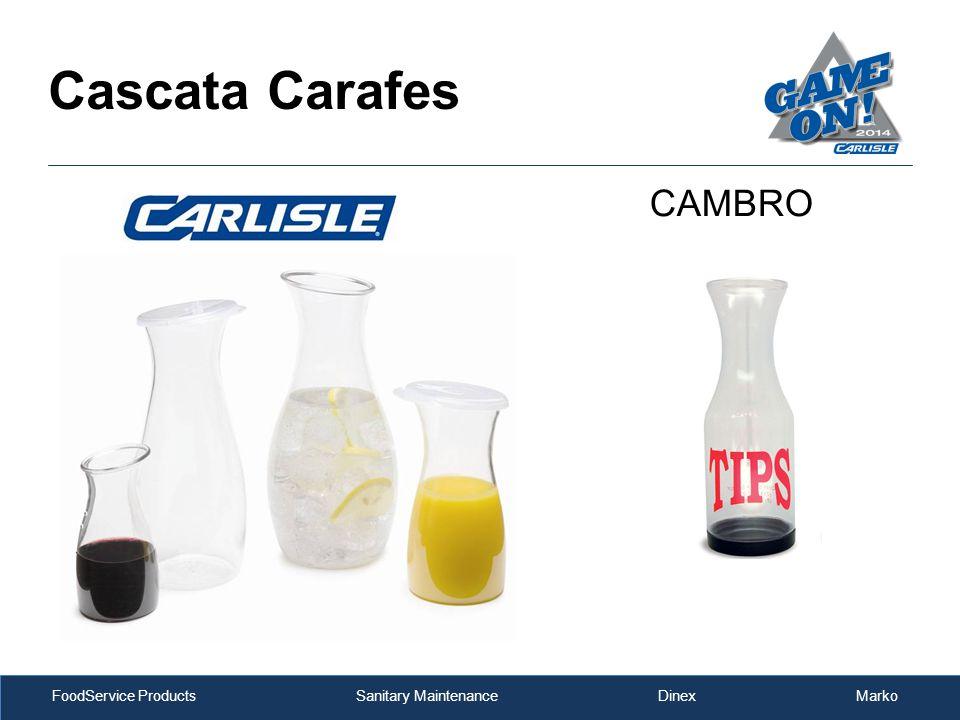 FoodService Products Sanitary Maintenance Dinex Marko Cascata Carafes CAMBRO
