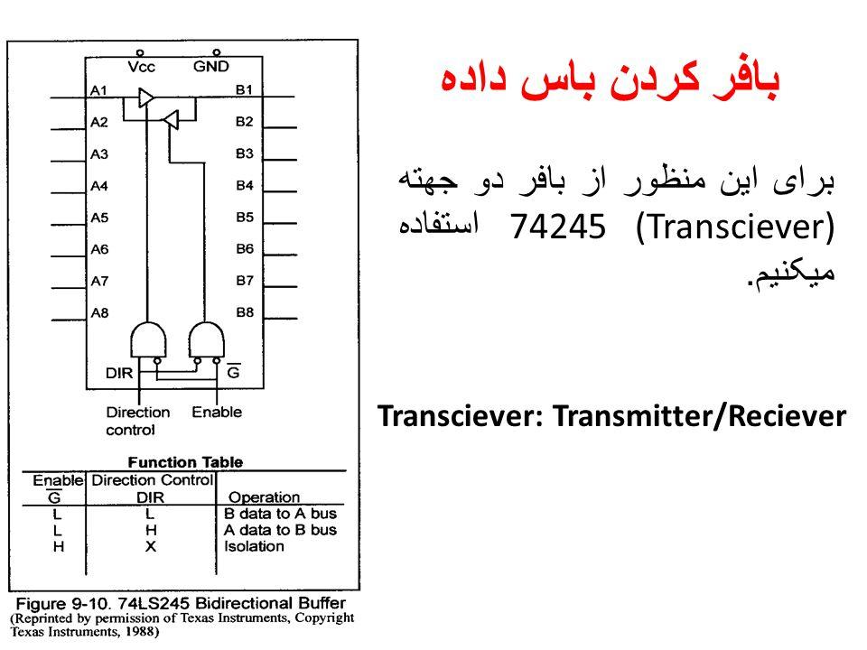 بافر کردن باس داده برای این منظور از بافر دو جهته (Transciever) 74245 استفاده میکنیم.