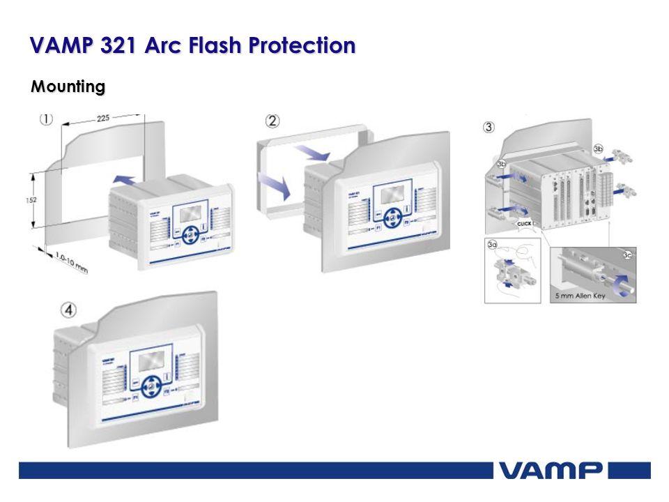 VAMP 321 Arc Flash Protection Mounting