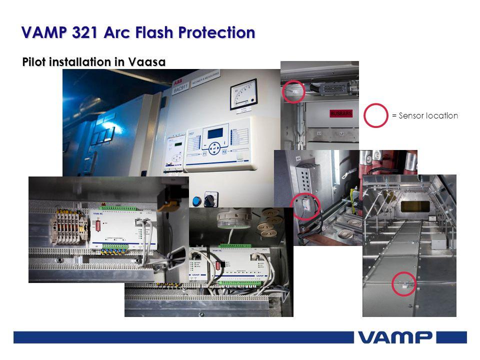 VAMP 321 Arc Flash Protection Pilot installation in Vaasa = Sensor location