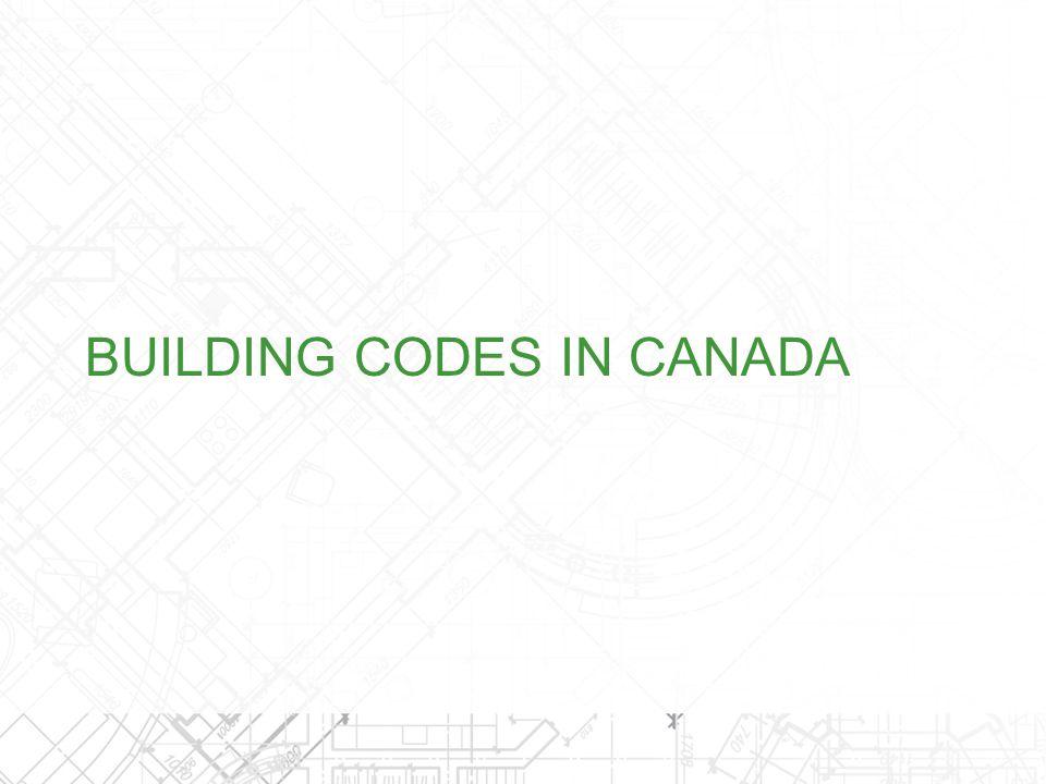 2010 National Building Code of Canada (NBC) Model Code for Canada Provincial adoption or adaption of NBC New Brunswick Manitoba Nova Scotia Saskatchewan Newfoundland and Labrador Northwest Territories Nunavut Yukon Prince Edward Island BUILDING CODES IN CANADA