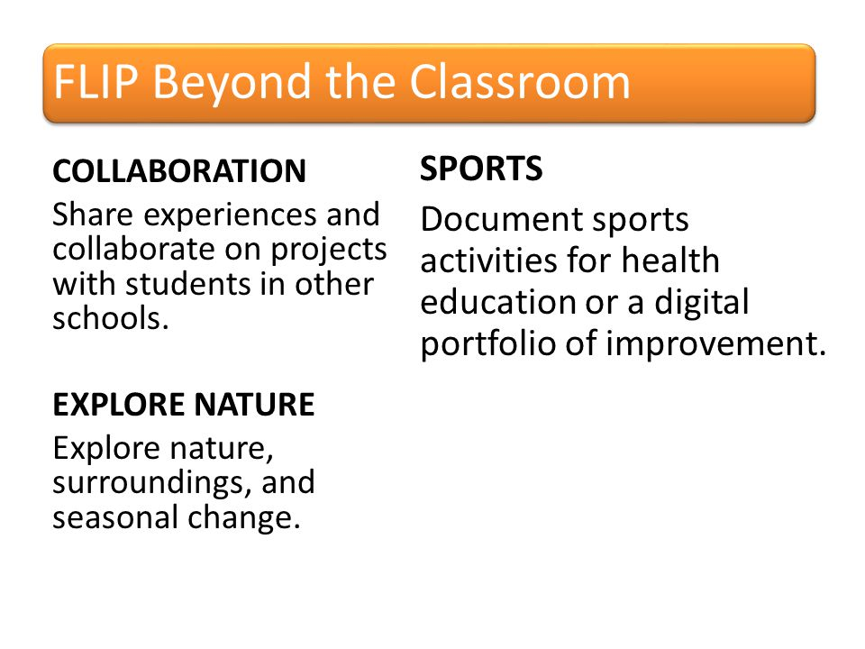 SPORTS Document sports activities for health education or a digital portfolio of improvement.
