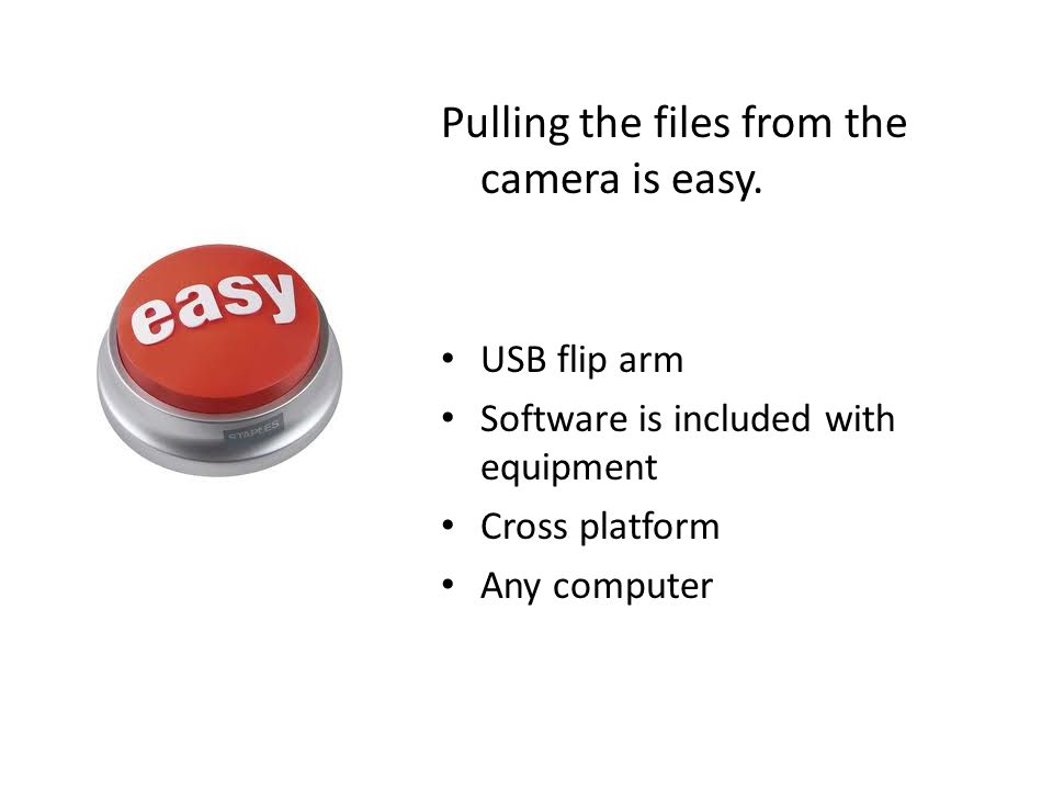 Pulling the files from the camera is easy.
