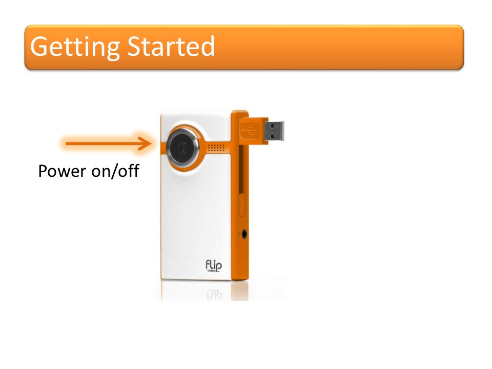 Getting Started Power on/off