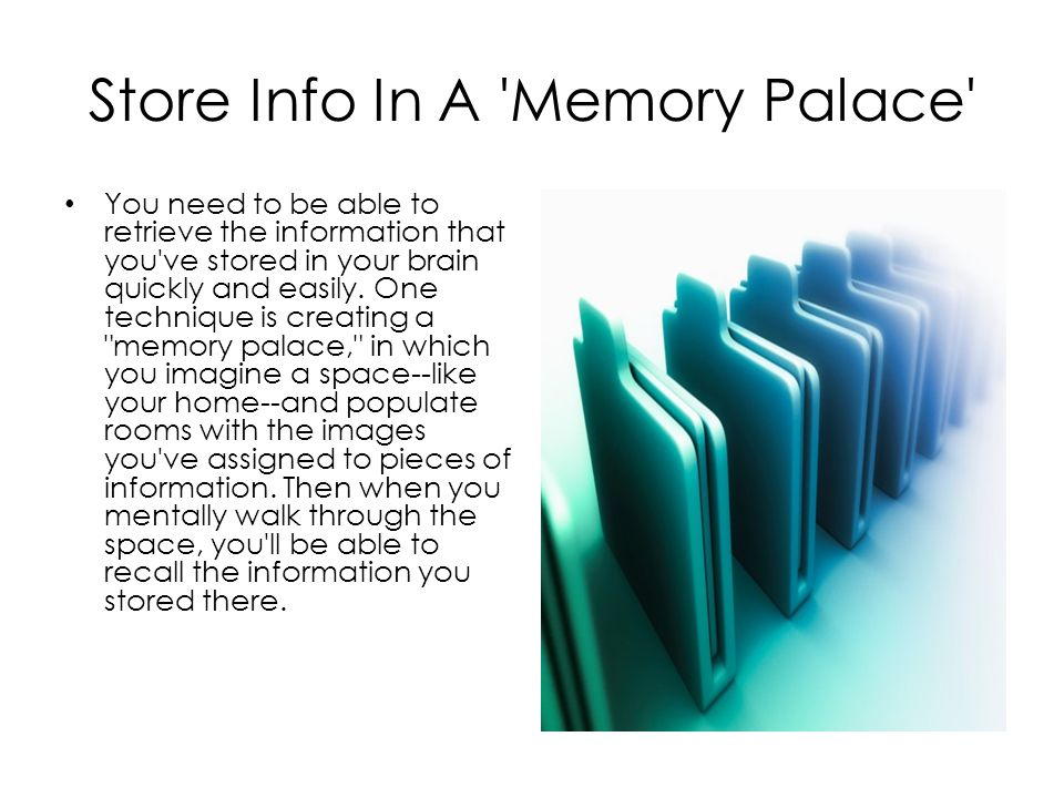 Connect Info In A Story The brain remembers stories better than fragments of information.