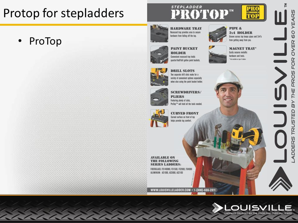 Protop for stepladders ProTop