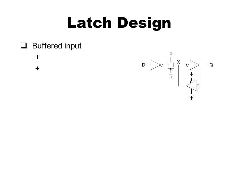 Latch Design  Buffered input +