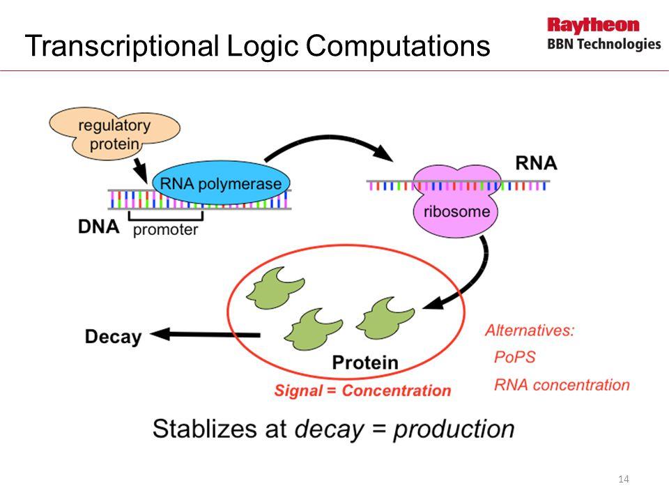 Transcriptional Logic Computations 14