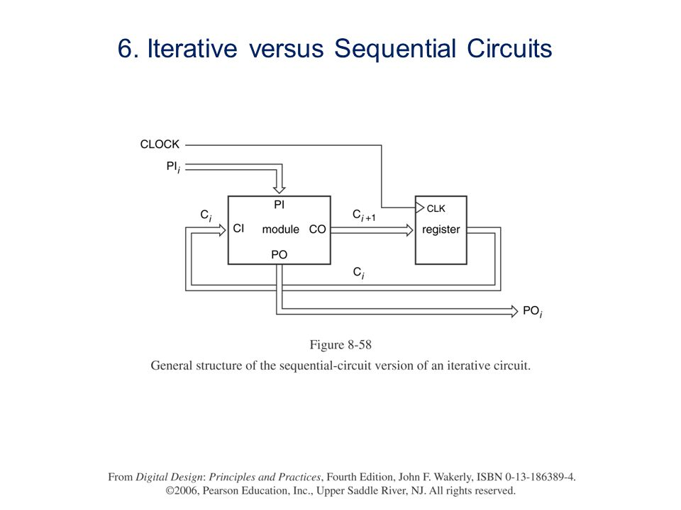 6. Iterative versus Sequential Circuits