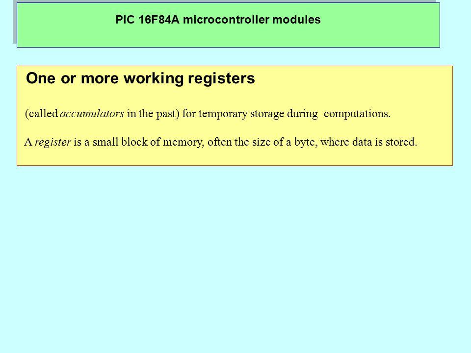 PIC 16F84A microcontroller modules PORTB and TRISB Registers PORTB is an 8-bit wide, bi-directional port.