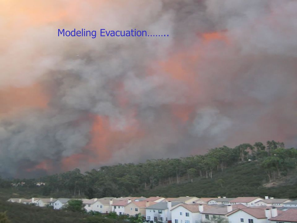 Forest Fire Picture Modeling Evacuation……..