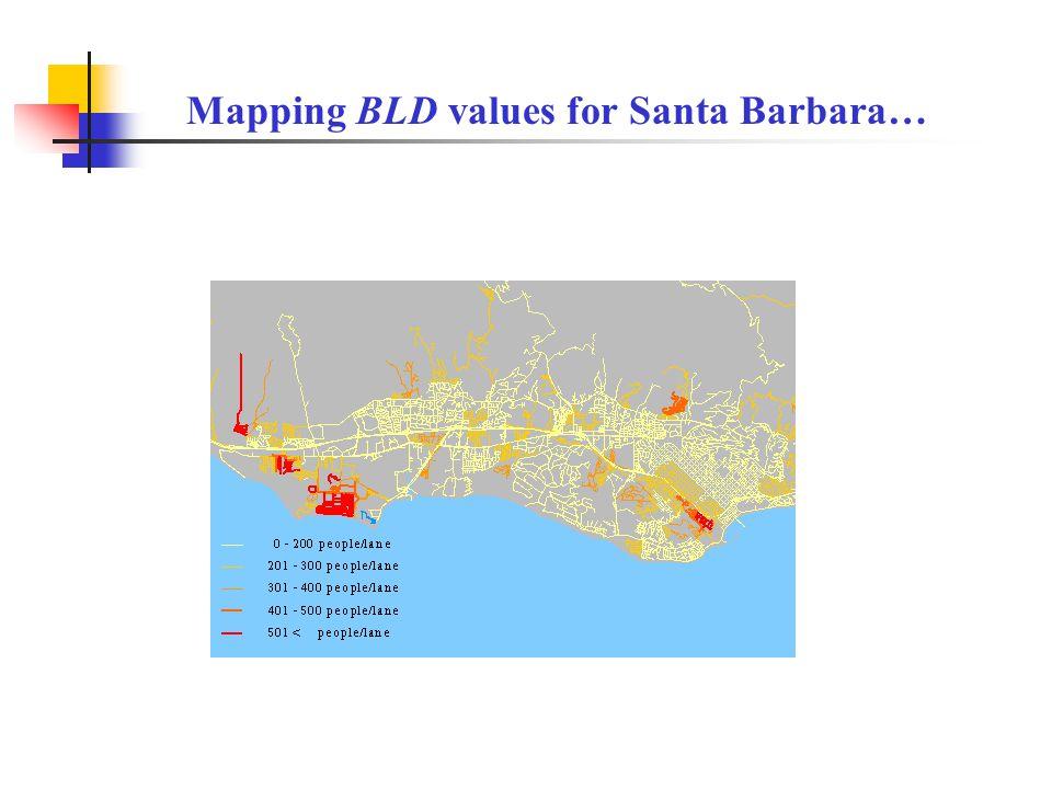 Mapping BLD values for Santa Barbara…