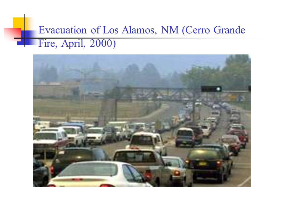 Evacuation of Los Alamos, NM (Cerro Grande Fire, April, 2000)