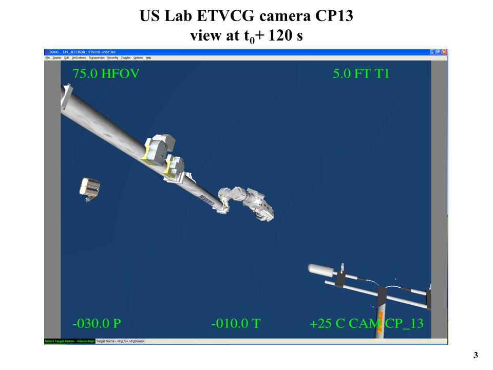 US Lab ETVCG camera CP13 view at t 0 + 120 s 3