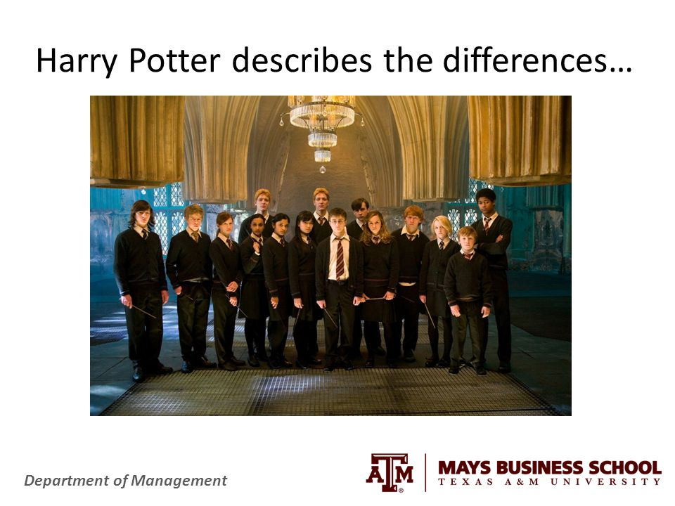 Harry Potter describes the differences…
