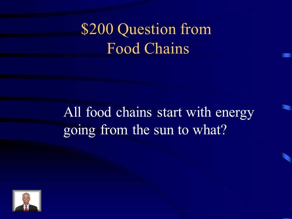 $100 Answer from Food Chains food chain