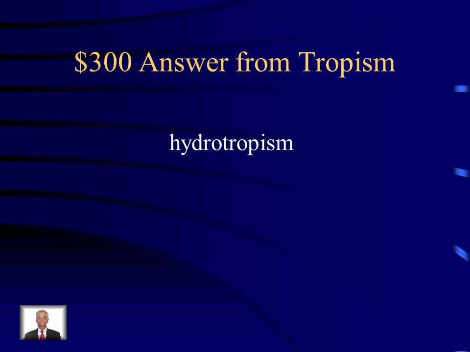 $300 Question from Tropism Which type of plant response involves plants' roots growing more on the side of the plant with a better water source