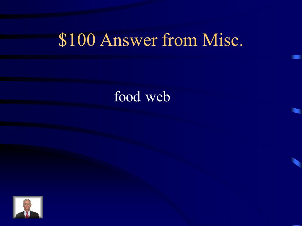 $100 Question from Misc. What are overlapping food chains