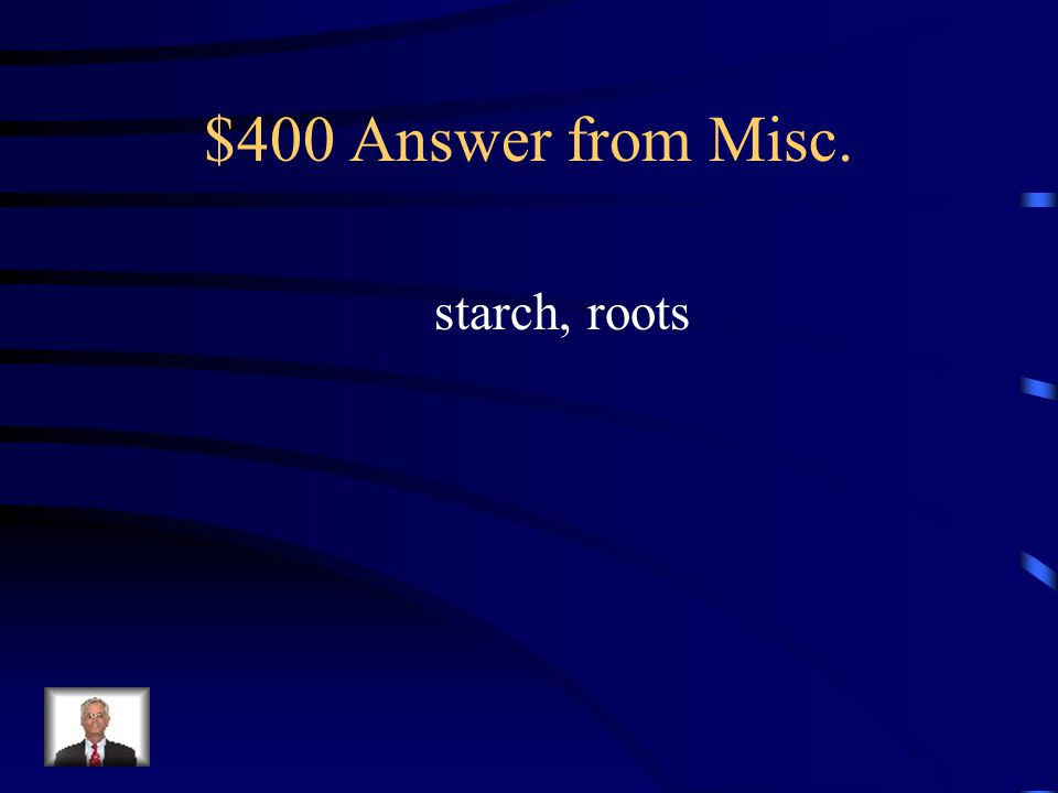 $400 Question from Misc. Plants store the extra food they produce as what.