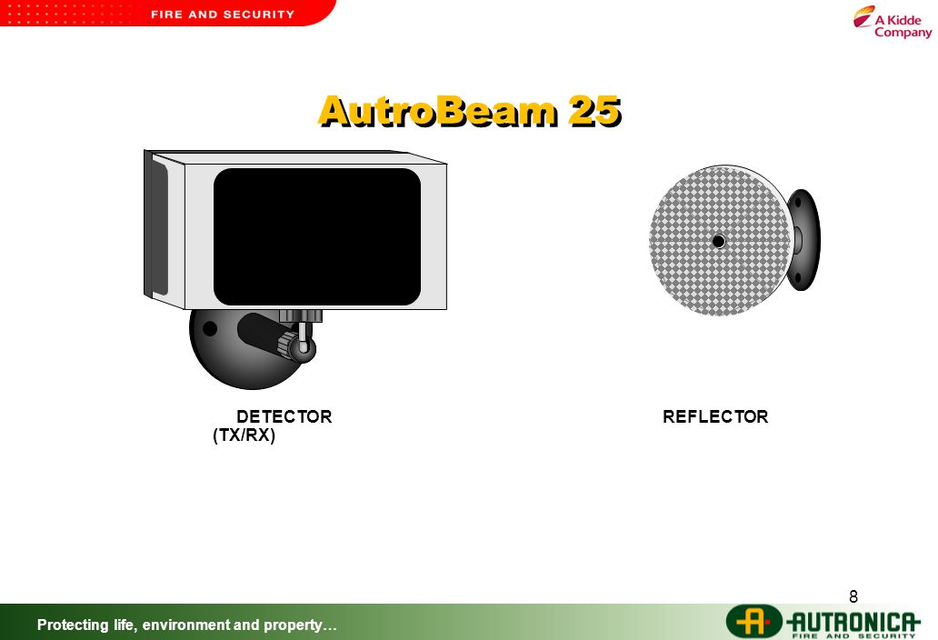 Protecting life, environment and property… 8 DETECTOR (TX/RX) REFLECTOR AutroBeam 25