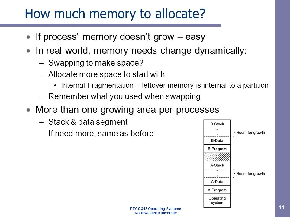 11 How much memory to allocate.