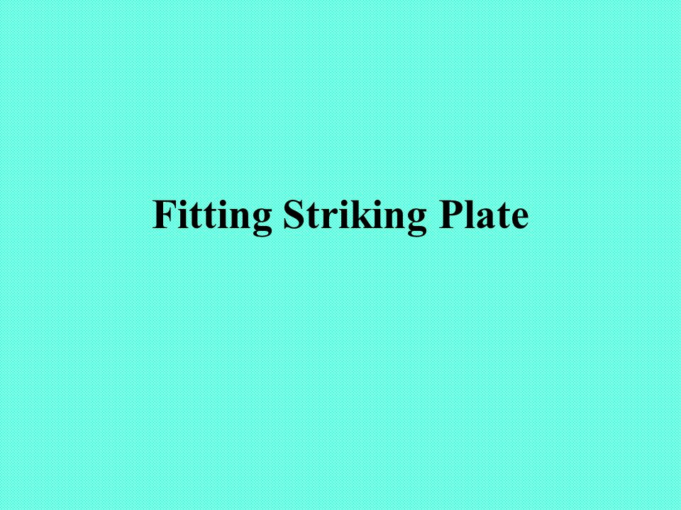 Fitting Striking Plate