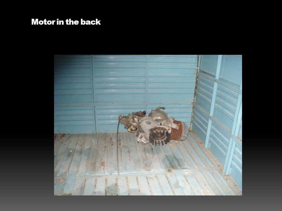 Motor in the back