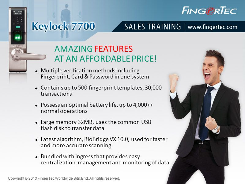 AMAZING FEATURES AT AN AFFORDABLE PRICE!  Multiple verification methods including Fingerprint, Card & Password in one system  Large memory 32MB, use