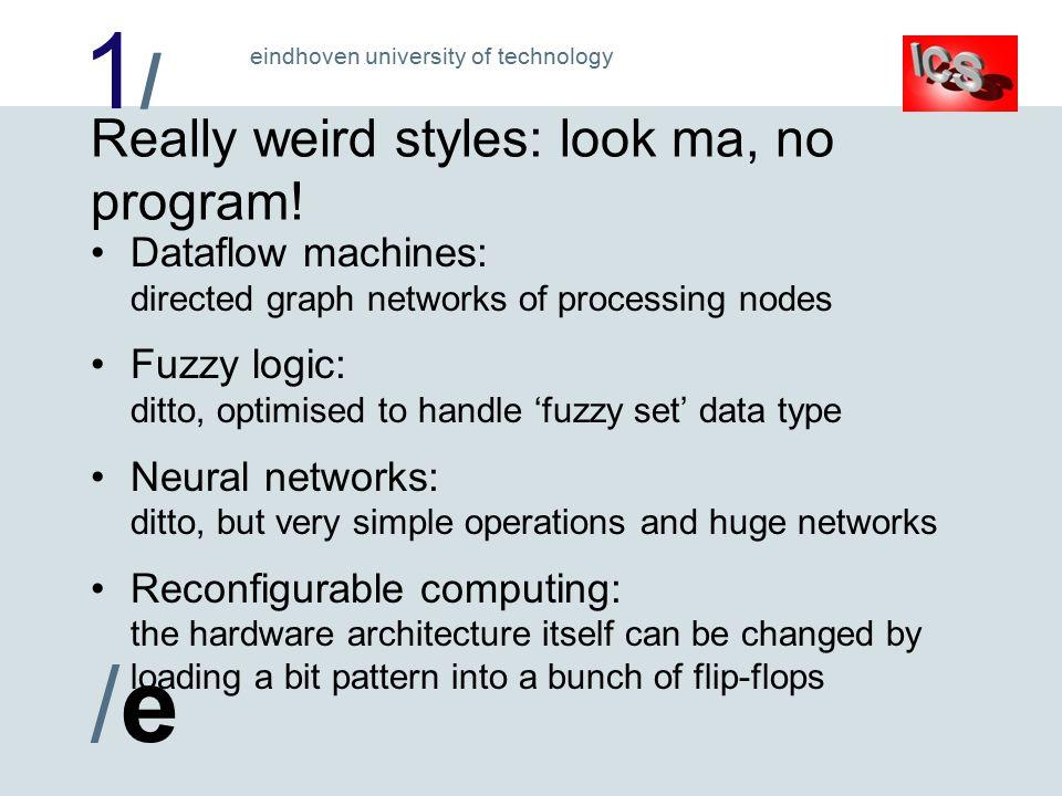 1/1/ /e/e eindhoven university of technology Really weird styles: look ma, no program.