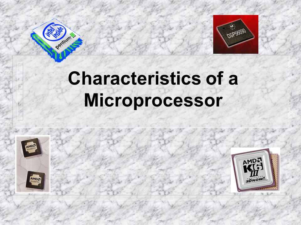The microprocessor is the defining trait of a computer, so it is important to understand the characteristics used to describe microprocessors.