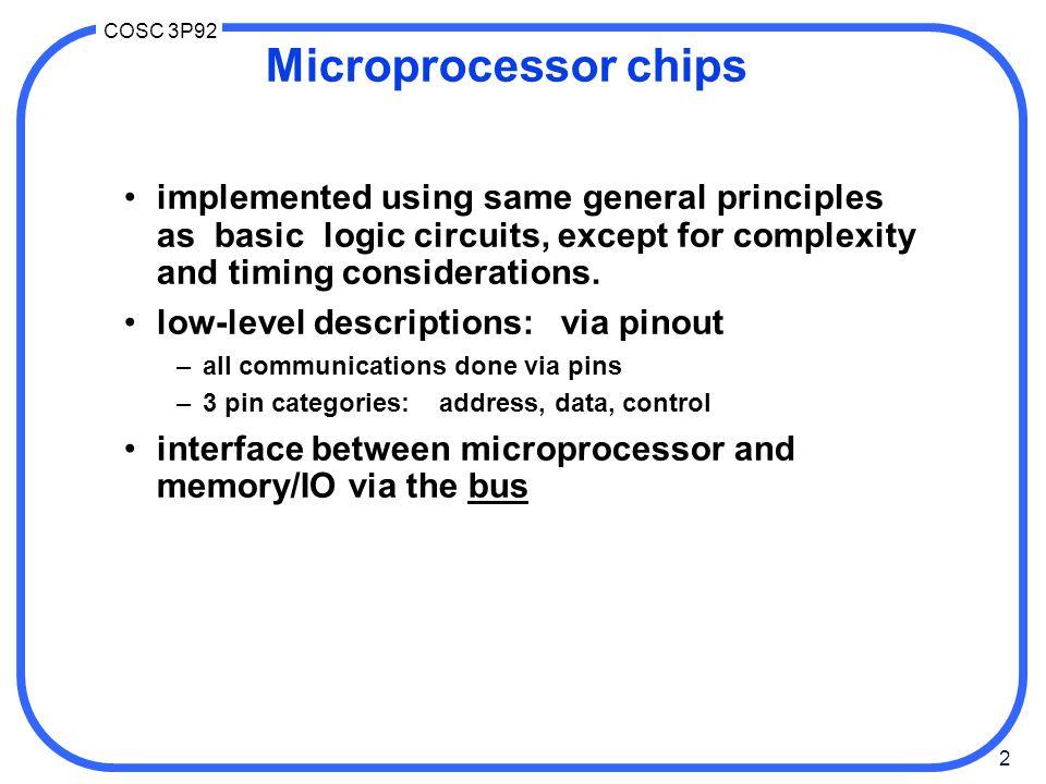 33 COSC 3P92 Intel 80286 & 80386 pinout