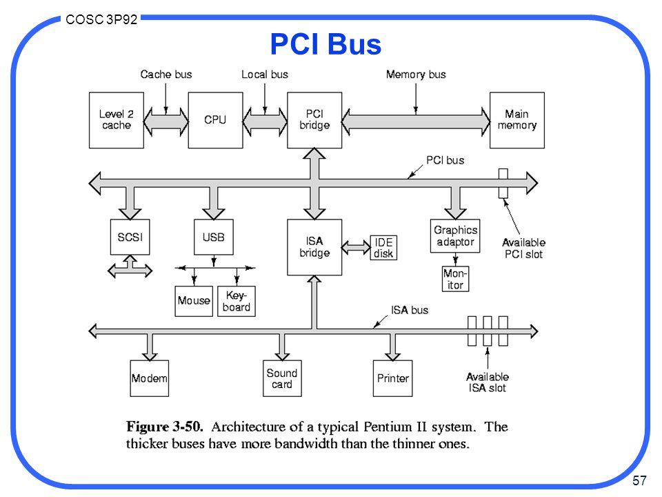 57 COSC 3P92 PCI Bus