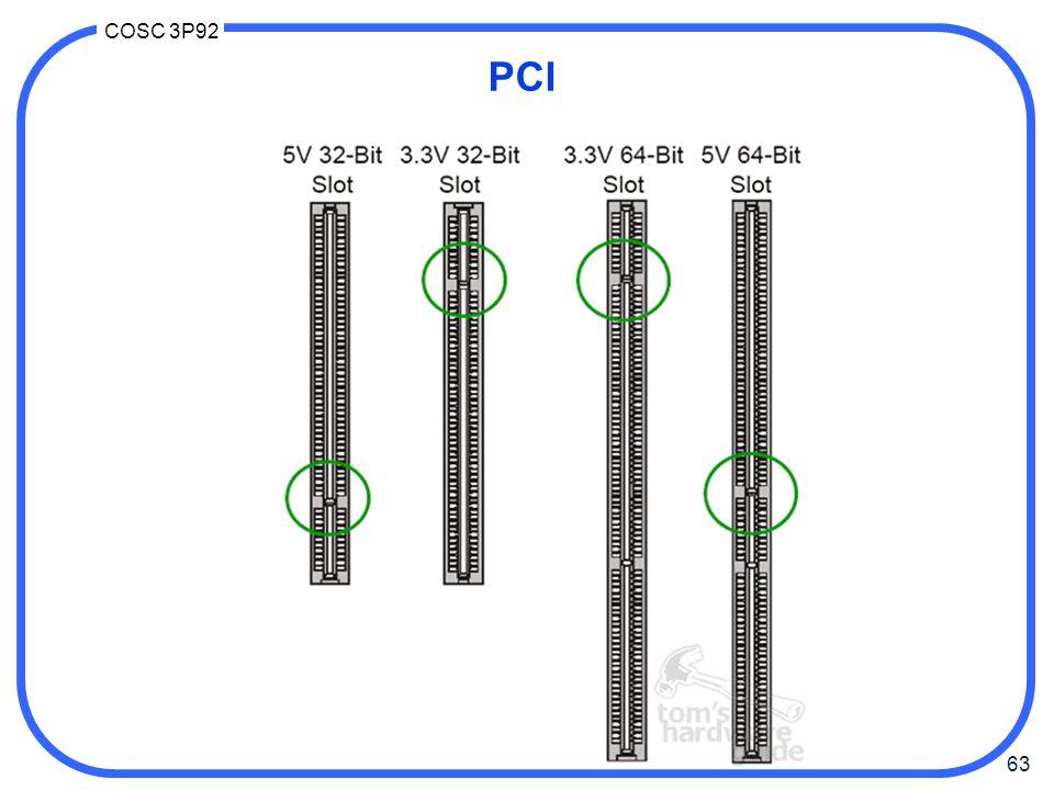 63 COSC 3P92 PCI