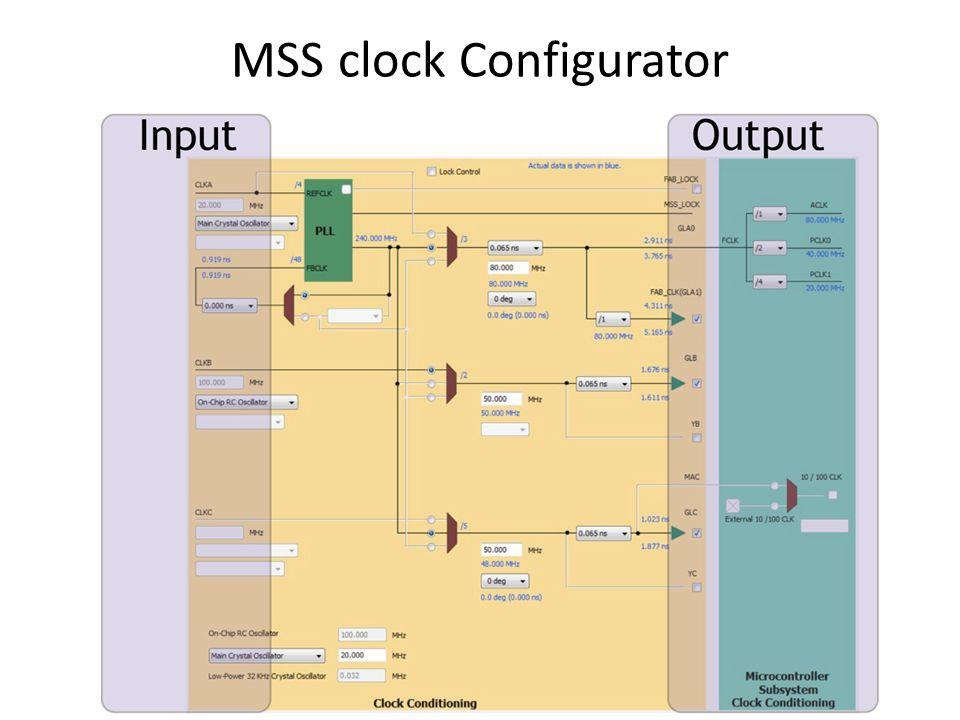 MSS clock Configurator