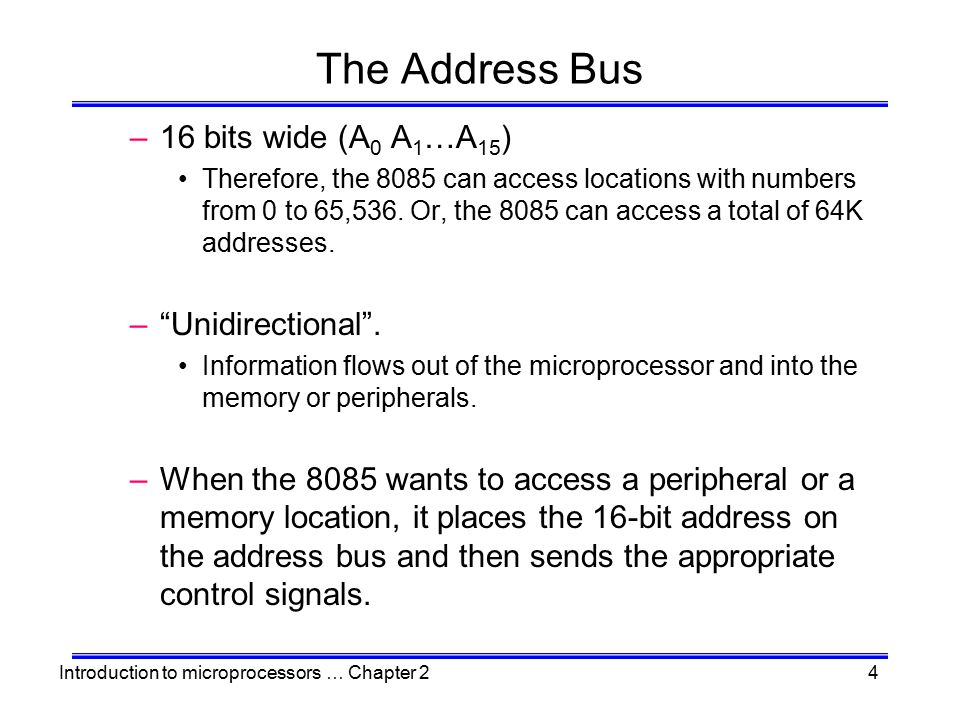 Introduction to microprocessors … Chapter 245 High-Order vs.
