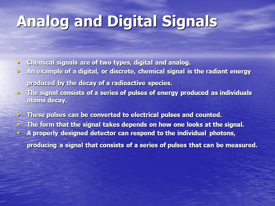 Digital to Analog Converters Digital signals are often converted to their analog counterparts for the control of instruments or for display by readout devices such as meters and analog recorders Digital signals are often converted to their analog counterparts for the control of instruments or for display by readout devices such as meters and analog recorders One common method is to use a circuit similar to a summing circuit of an operational amplifier One common method is to use a circuit similar to a summing circuit of an operational amplifier