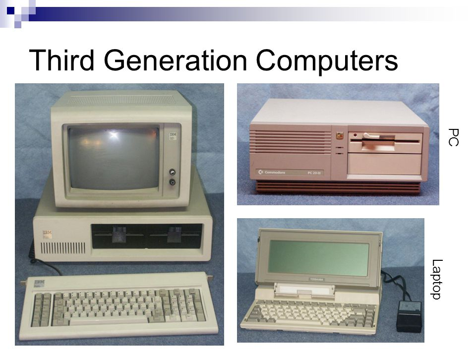 Third Generation Computers Laptop PC