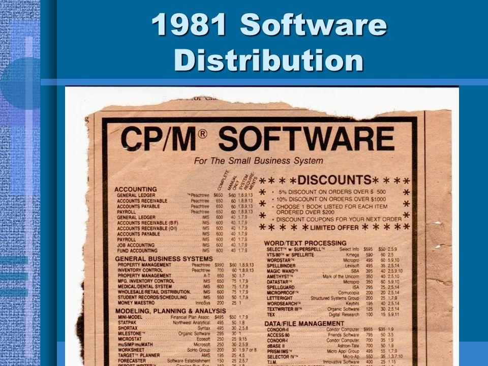 1981 Software Distribution