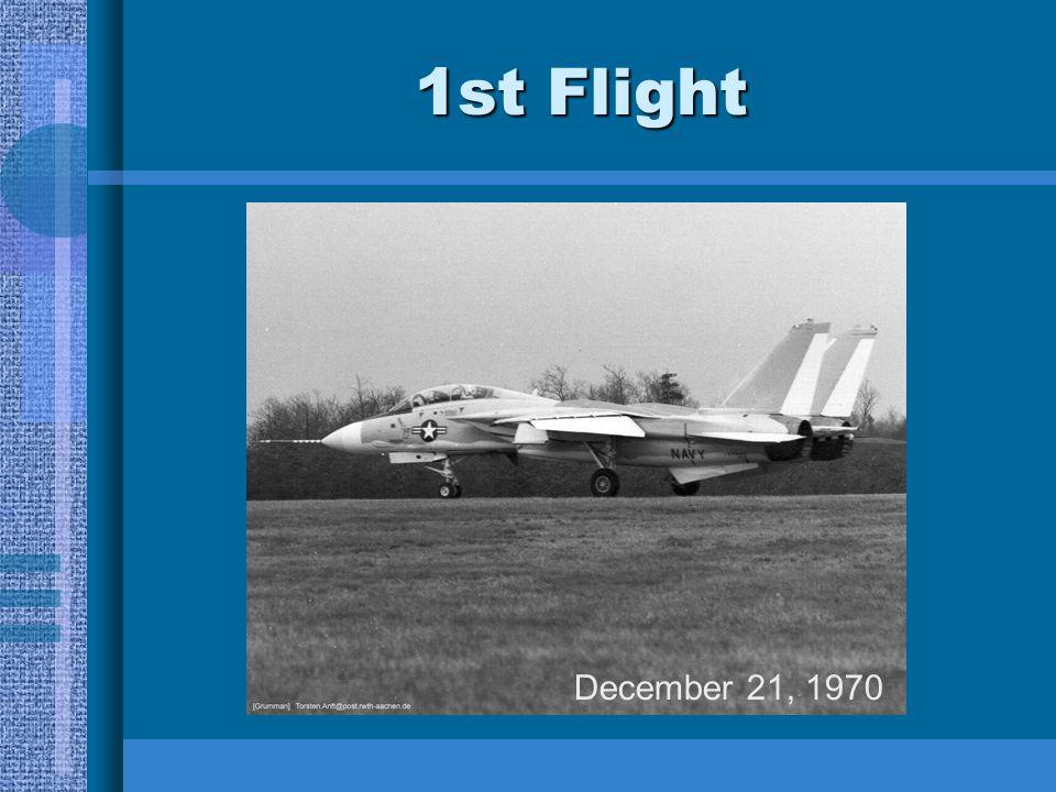 1st Flight December 21, 1970