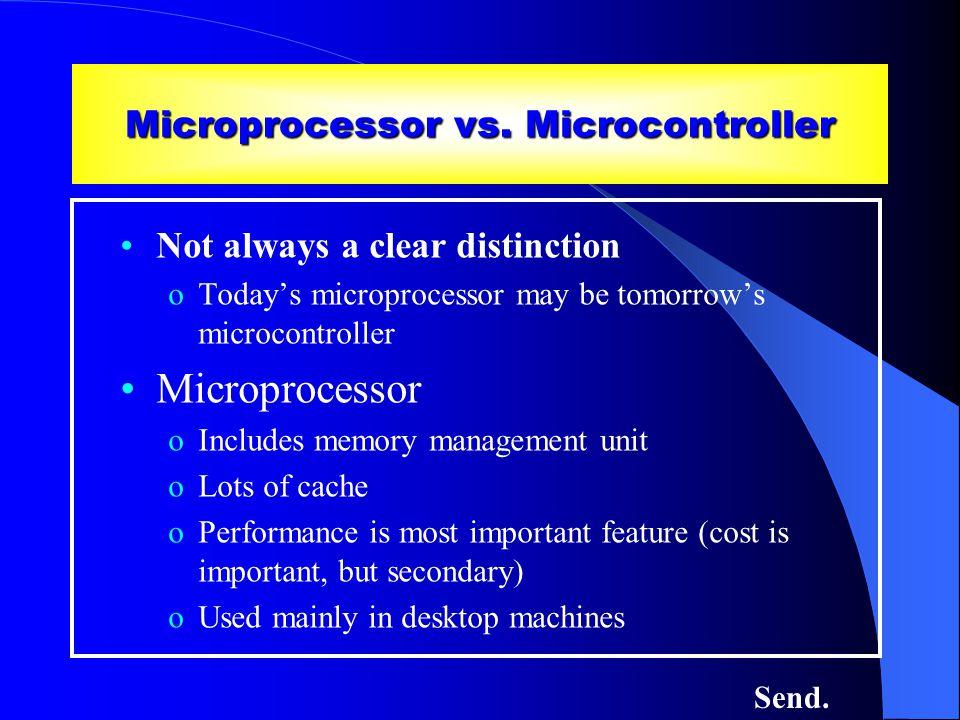Microprocessor vs.