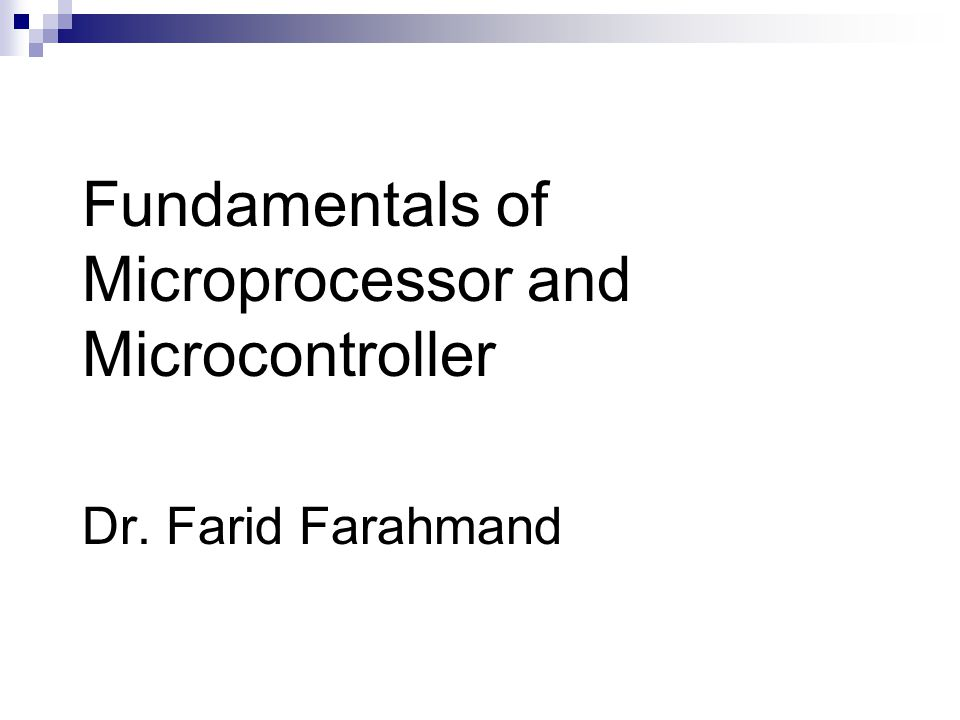 Microprocessor-based Systems Memory Memory is a group of registers 16 register – address: 0-15 – in binary: 0- 1111; Address lines: A0-A3 Serves two major purposes  storing the binary codes for the sequence of instructions specified by programs (program)  storing binary data that the computer needs to execute instructions (data)