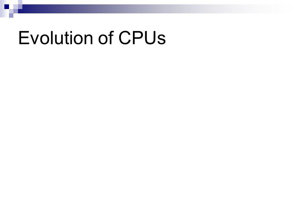 Evolution of CPUs