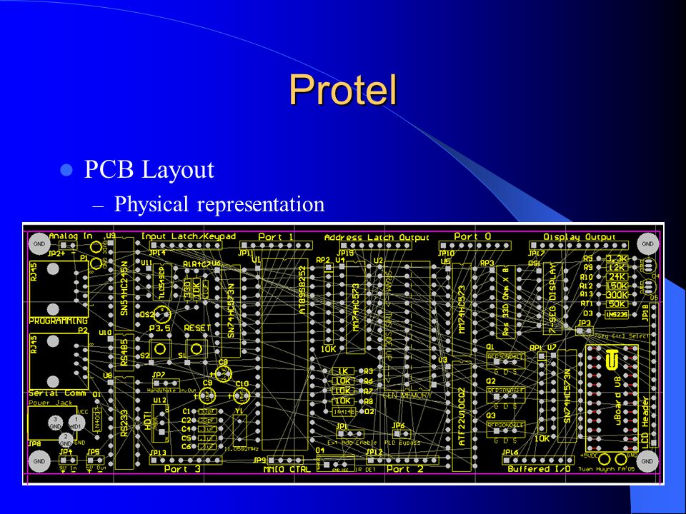 Protel PCB Layout – Physical representation