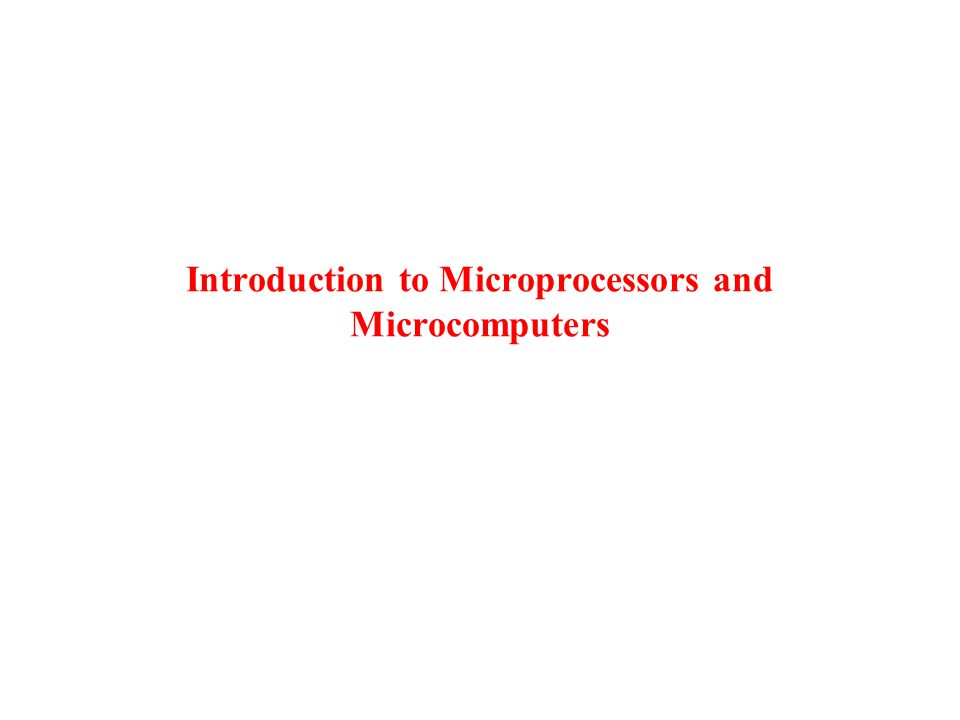 What is a microcomputer system.