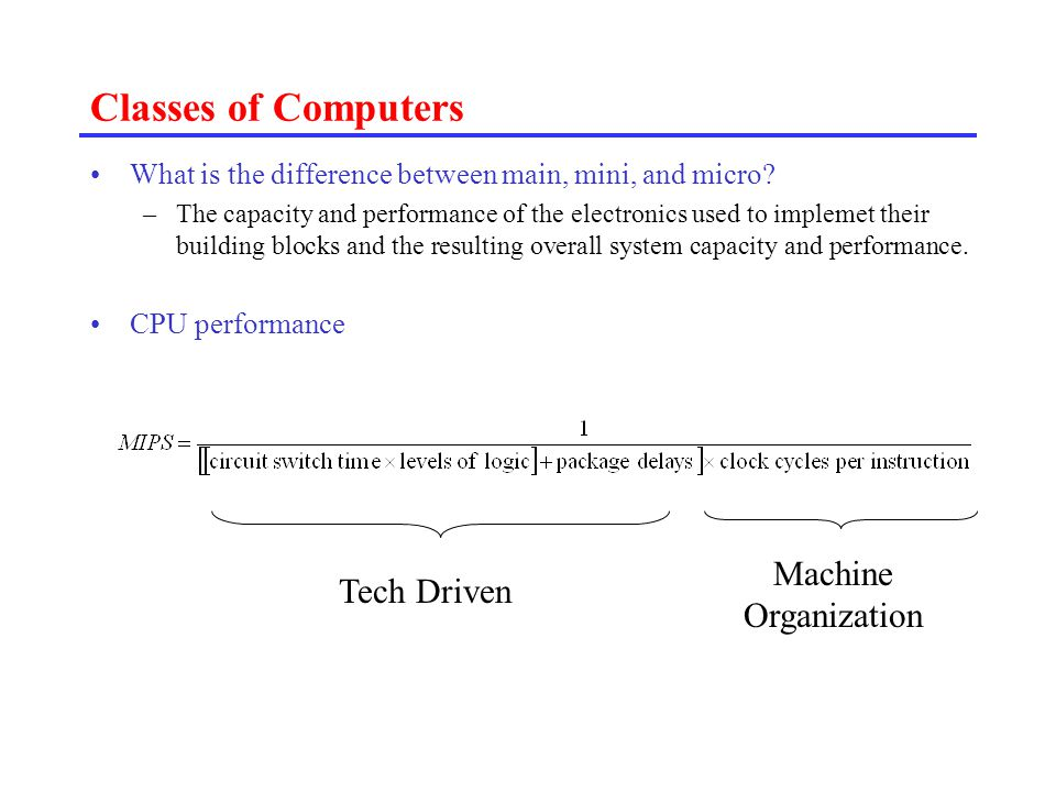 Microprocessor Architecture 의 특징 different from the architectures of large main frames.