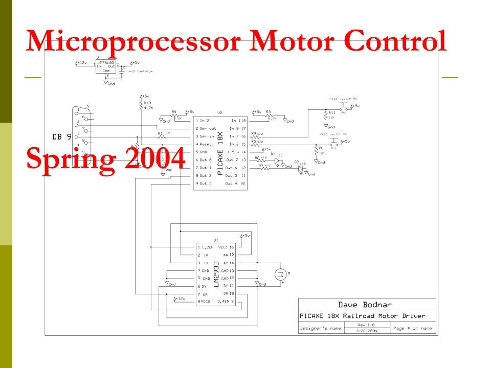 Microprocessor Motor Control Spring 2004