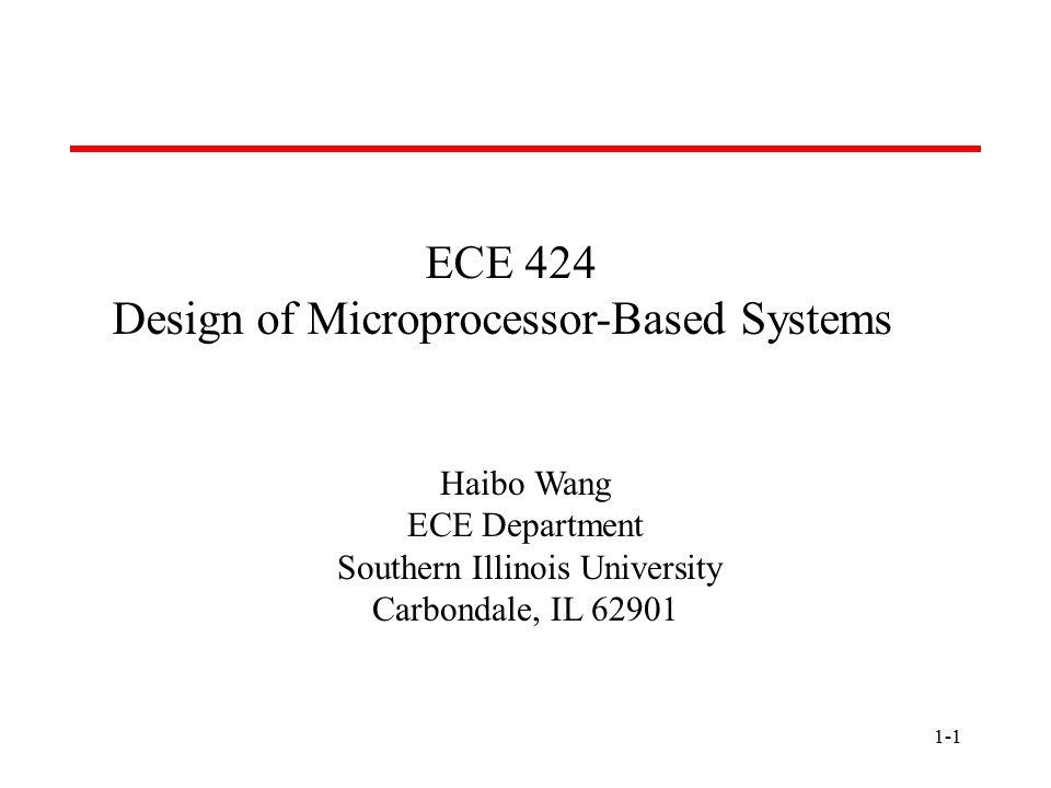 1-2 Overview  Textbook: J.L.