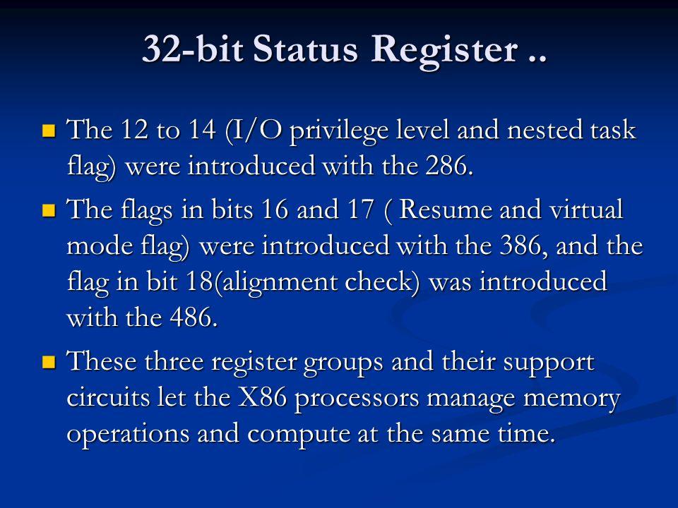 32-bit Status Register..