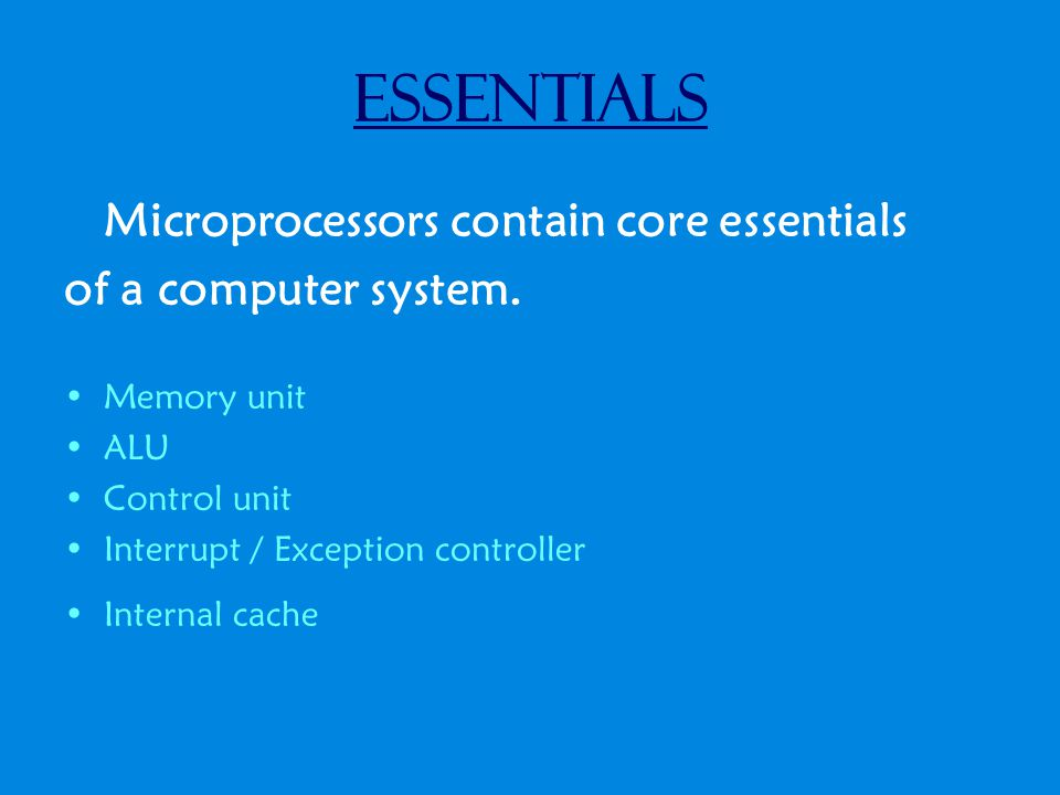 History of the Microprocessor Facts 44 Billion dollars worth of Microprocessors were made in 2003 as well as sold.