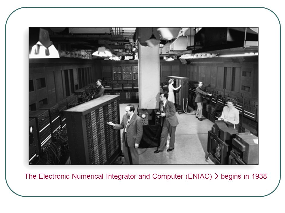 The Electronic Numerical Integrator and Computer (ENIAC)  begins in 1938